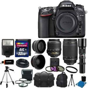 Nikon D Dslr Cámara 9 Lente Kit  Vr +
