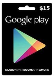 Tarjeta Google Play 15 Usd Entrega Inmediata