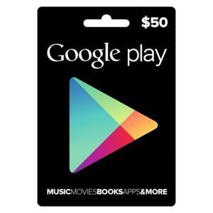 Tarjeta Google Play Gift Card 50 Usd Entrega Inmediata