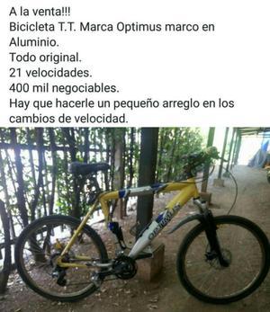 Bicicleta Optimus Marco de Aluminio