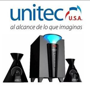 Parlante Unitec 2.1 U-sp-108c Bluetooth, Usb, Radio Fm