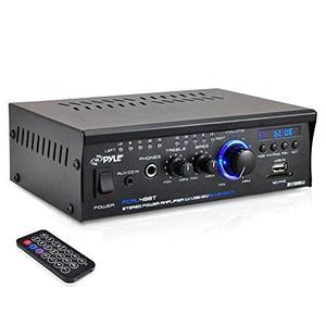 Pyle Pcau48bt Bluetooth Mini Blue Series Amplificador De Po