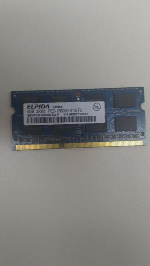 Vendo Memoria Ram Ddr3 4gb para Portátil