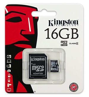 Kingston 16 Gb Clase 4 Microsdhc Flash Card Con Sd Adaptador