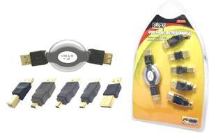 Kit De Adaptadores Usb Con Cable Retráctil.