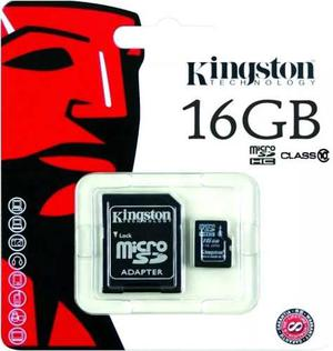 Memoria Kingston Micro Sd 16 Gb Clase 10 + Adaptador Sd