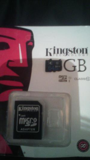 Memoria Micro Sd de 64gb Clase 10 Excele
