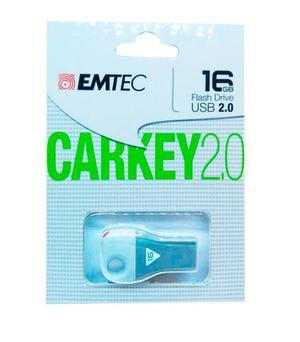 Memoria Usb Emtec 16gb Carkey 2.0 Gris