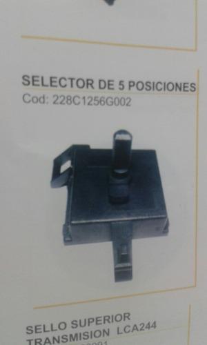 Selector De 5 Y De 8 Pociones Para Lavadora Mabe