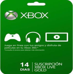 Membrecia Xbox Live Gold 14 Dias Xbox One 360 Oferta