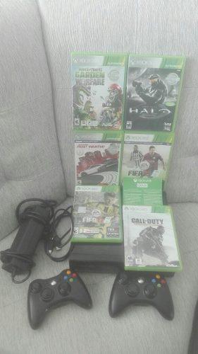 Oferta! Consola Xbox 360 Con 5 Juegos Y Mandos