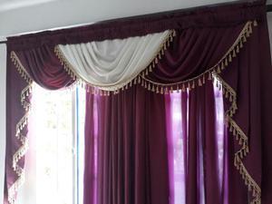 2 cortinas 3 cenefas