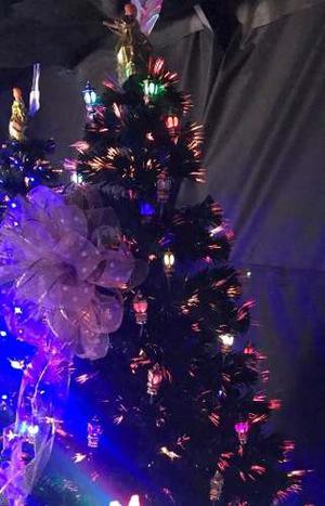 Arbol Navidad Fibra Óptica Y Led Faroles 2.10 Envío Gratis