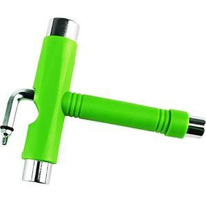 Herramienta Para Skate Multifuncional Tipo T Color Verde Neo