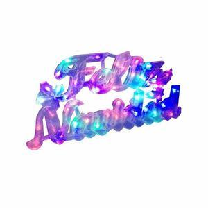 Letrero Luminoso De Feliz Navidad De Luces Led Multicolor