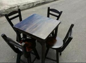 Juego de mesas y sillas para cafeter a bar o posot class for Sillas para bar economicas
