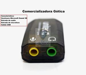 Tarjeta De Sonido Usb 5.1 Unitec Audifono Microfono