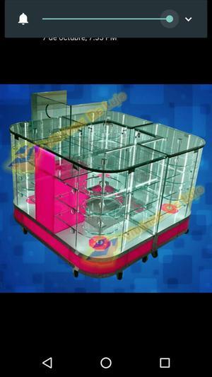 Ventas de Vitrinas en Vidrio Y Aluminio.