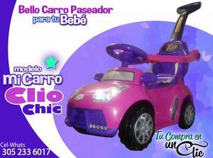 Bello Carro paseador para tu Bebé. Pasea divertido con tu