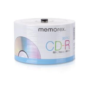 Memorex  Cd-r 52x 50pk Eco Discos Base De Husillo