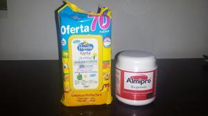 Vendo Combo Nuevo para Bebe Crema Almipro Grande Y Pañitos