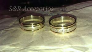 Argollas, Matrimonio, Compromiso. Plata 925 Garantizada