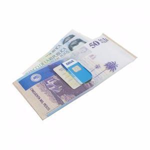 Billetera Diseño En Forma De Dinero Billete De 50 Mil Pesos