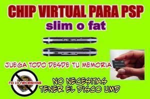 Chip O Flasheo Virtual Para Psp Todos Los Modelos+juegos