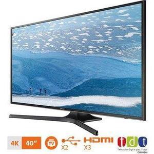 Televisor Led Samsung 40 Un40ku Smart Tv 4k -negro