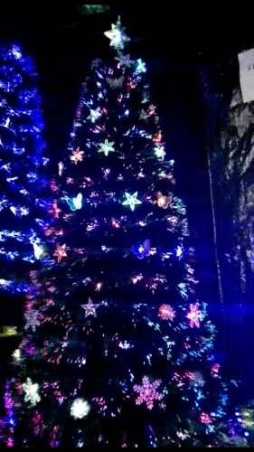 Arbol Navidad 180 Cm Fibra Optica Luz Led Incorporada