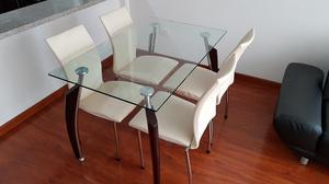 Comedor brunati 8 puestos cuadrado posot class for Comedor 4 puestos vidrio