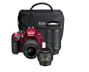 Kit De Cámara Nikon D De 24,2 Mp Triple Lente