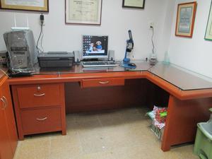 Mueble escritorio computador vidrio de 8mm posot class - Mueble escritorio ...