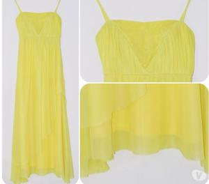 Vestido de Gala Amarillo. confeccionado en exclusividad