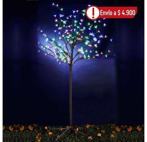 Árbol 150cm 200 Luces Led Multicolor Flor Navidad