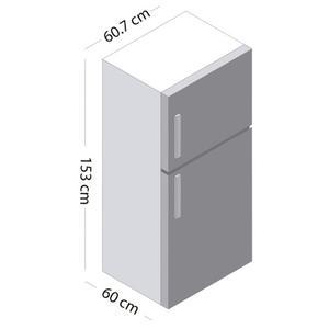 Refrigerador No Frost 241 Lt Ert29l3cni Plateado - Marca Tdt