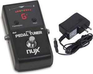 Pedal Afinador Nux Pt6 Con Adaptador Para Guitarra Y Bajo