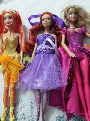 Vendo 3 Lindas Barbies Originales