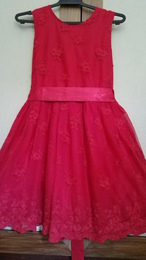 Vestido Rojo para Niña Talla 10 American