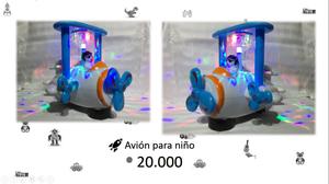 se vende avión de luces para niño