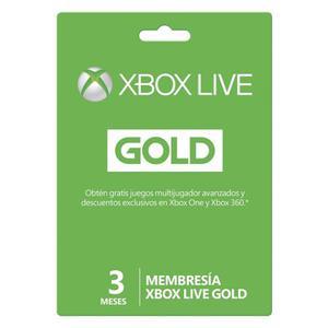 Membresía Gold Xbox Live Gold 3 Meses - Marca Xbox Tdt