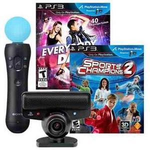 Kit Playstation Move Mas Dos Video Juegos Sports Champions 2