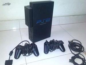 Playstation2 + Moden Disco Duro Lleno De Juegos + 2 Memoras