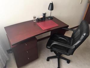 Escritorio ancho cm largo cm alto posot class for Silla giratoria escritorio