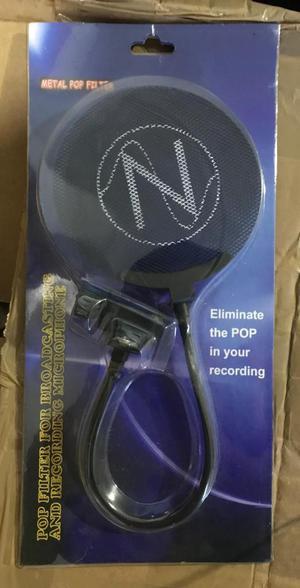 Filtro anti pop para microfono