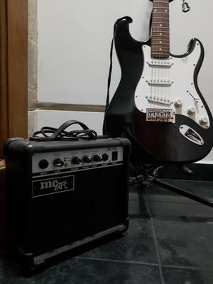 Guitarra Eléctrica MC Art Amplificador Estuche Correa