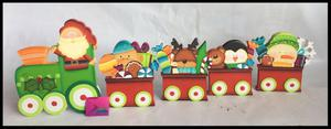 Tren Decorativo Navideno Arte Country