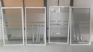 Vendo 4 Ventanas en Aluminio con Vidrio