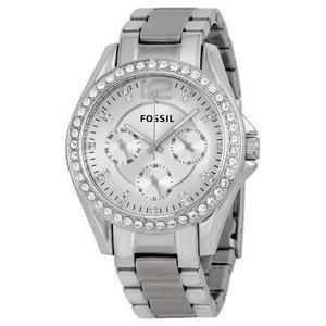 Reloj Fossil Es Acero Plateado Mujer