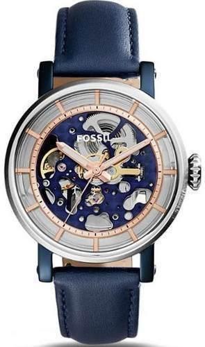 Reloj Fossil Me Cuero Azul Mujer